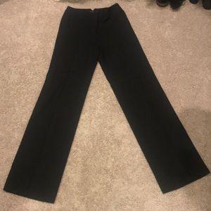 BCBG Maxazria Black wise leg dress slacks.